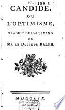 Candide, ou L'optimisme,
