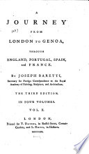 A Journey from London to Genoa,