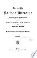 Die deutsche Nationalliteratur des neunzehnten Jahrhunderts, literararhistorisch und kritisch dargestellt