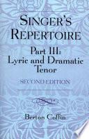 The Singer S Repertoire Part Iii