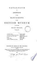 catalogue of additions to the manuscripts in the british museum in the year mdcccliv-mdccclxxv