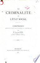La criminalité et l'état social