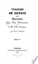 Viaggio in Savoja ossia descrizione degli stati oltramontani del Re di Sardegna