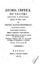 Storia critica de'teatri antichi e moderni