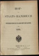 Hof- und Staats-Handbuch der Österreichisch-Ungarischen Monarchie