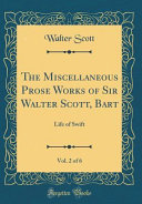 download ebook the miscellaneous prose works of sir walter scott, bart, vol. 2 of 6 pdf epub