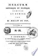Mercure Historique Et Politique