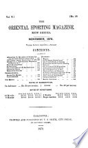 The Oriental Sporting Magazine