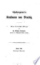 Shakespeare's Kaufmann von Venedig