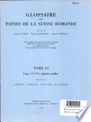 Glossaire des Patois de la Suisse Romande
