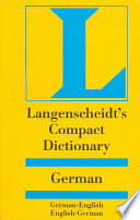 Langenscheidt  compact German dictionary