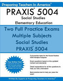 Praxis 5004 Social Studies Elementary Education