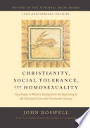 Christianity  Social Tolerance  and Homosexuality