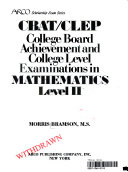 College board achievement and college level examinations in mathematics  level II