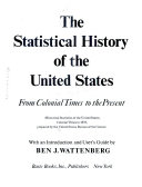 download ebook the statistical history of the united states, from colonial times to the present pdf epub