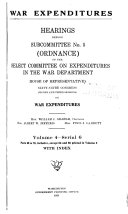 War Expenditures  Ordinance     Vol  1   pt 1 25   Vol  2   Pt 26 49 with index   Vol  3   pt 50 59  64 and 66 with index   Vol  4   pt 60 70  inclusive  except 64 and 66 printed in volume 3