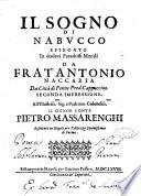 Il sogno di Nabucco spiegato in dodeci paradossi morali da frat'Antonio Naccaria da città di Penne pred. cappuccino