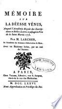 P.H. Memoire sur la Deesse Venus