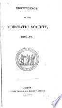 Proceedings of the Numismatic Society  1836 1837 1838 1839