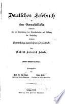 Deutsches Lesebuch für obere Gymnasialklassen