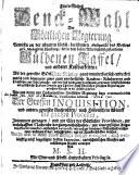 Fürtreffliches Denck-Mahl Der Göttlichen Regierung Bewiesen an der uhralten höchst-berühmten Antiquität des Klosters zu St. Michaelis in Lüneburg ... vermehret Von M. S. H