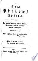Ceskych Prjslowj Zbjrka  Sammlung cechischer Sprichw  rter  nach Srnec und Franz Andreas Horney verm  von Joseph Dobrowsky