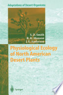 Physiological Ecology Of North American Desert Plants