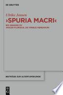 """""""Spuria Macri"""""""
