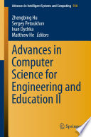 Advances In Computer Science For Engineering And Education Ii
