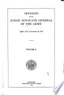 Opinions of the Judge Advocate General of the Army