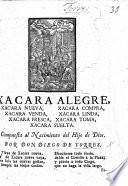 Xacara Alegre Compuesta Al Nacimiento Del Hijo De Dios