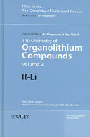 The Chemistry Of Organolithium Compounds book