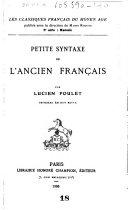 illustration du livre Les Classiques français du moyen âge ...
