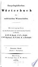 Encyclopaedisches Wörterbuch der medizinischen Wissenschaften, hrsg. Von D. W. H. Busch, C. F. Von Graefe(etc.)