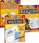 180 Days Of Reading Writing And Math For Third Grade 3 Book Set