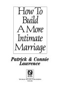How to build a more intimate marriage