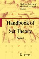 Handbook of Set Theory