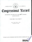 Congressional Record Proceedings And Debates Of The 108th Congress Second Session