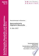 Nanotechnologie im Bauwesen - nanooptimierte Hightech-Baustoffe