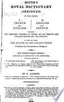 Boyer s Royal Dictionary Abridged
