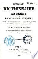Nouveau dictionnaire de poche de la langue fran  aise