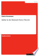 Kultur in der Rational Choice Theorie
