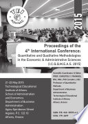 Proceedings Of The 4th International Conference Quantitative And Qualitative Methodologies In The Economic Administrative Sciences I C Q Q M E A S 2015