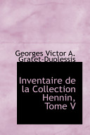 Inventaire De La Collection Hennin