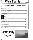 Saint Clair County telephone directories