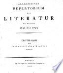 Allgemeines Repertorium der Literatur für die Jahre 1791 bis 1795