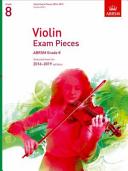 Violin Exam Pieces 2016-2019, ABRSM Grade 8, Score & Part