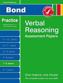 Bond Verbal Reasoning Assessment Papers 7 8 Years