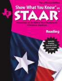 SWYK on STAAR Reading Gr  5  Parent Teacher Edition