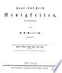 Jagd- und Forst-Neuigkeiten. Hrsg. von F. G. Rietsch